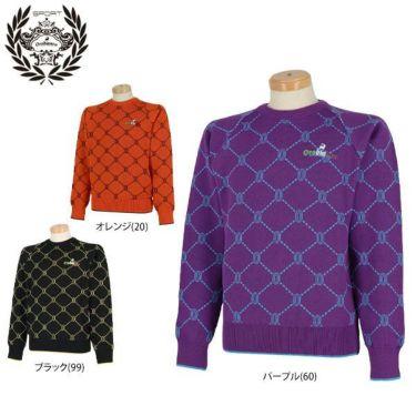 オロビアンコ  Orobianco メンズ 総柄 ロゴ刺繍 長袖 クルーネック セーター 45380-105 2019年モデル