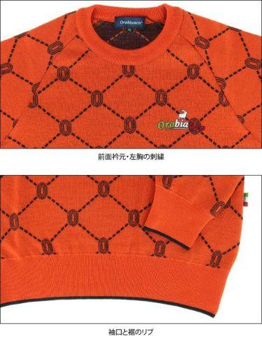 オロビアンコ  Orobianco メンズ 総柄 ロゴ刺繍 長袖 クルーネック セーター 45380-105 2019年モデル 商品詳細7