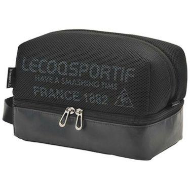 ルコック Le coq sportif メンズ メッシュ 二層式 ラウンドポーチ QQBPJA41 BK00 ブラック