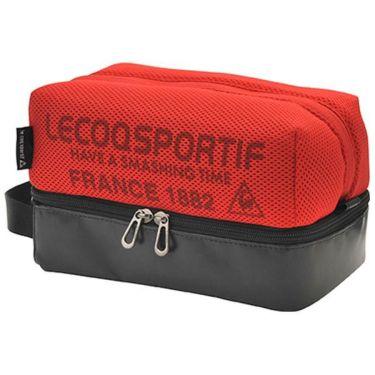ルコック Le coq sportif メンズ メッシュ 二層式 ラウンドポーチ QQBPJA41 RD00 レッド