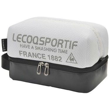 ルコック Le coq sportif メンズ メッシュ 二層式 ラウンドポーチ QQBPJA41 WH00 ホワイト