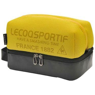ルコック Le coq sportif メンズ メッシュ 二層式 ラウンドポーチ QQBPJA41 YL00 イエロー