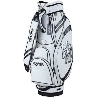 本間ゴルフ ダンシングホンマ ロゴ メンズ キャディバッグ CB-12015 WH/BK ホワイト/ブラック