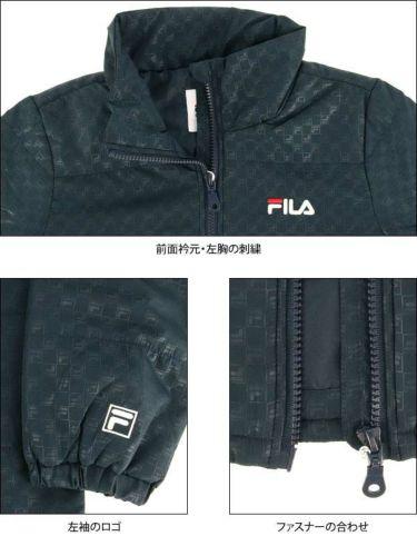 フィラ FILA レディース 総柄 中綿 長袖 ハイネック フルジップ ブルゾン 799-280 商品詳細5