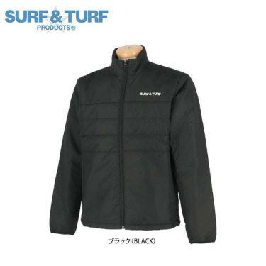 サーフ&ターフ  SURF&TURF メンズ 中綿 長袖 ハイネック ブルゾン 9FW-STF3 ブラック(BLACK)