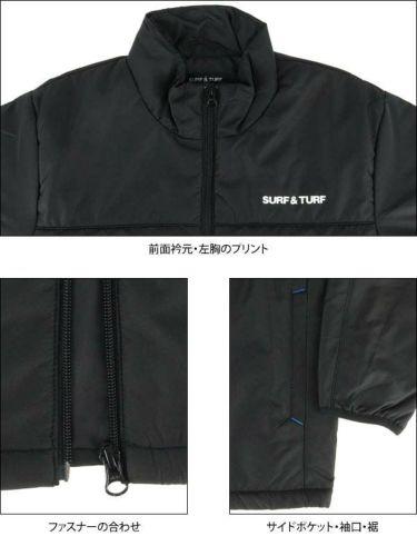 サーフ&ターフ  SURF&TURF メンズ 中綿 長袖 ハイネック ブルゾン 9FW-STF3 商品詳細5