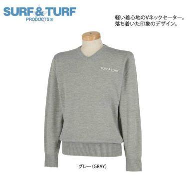 サーフ&ターフ  SURF&TURF メンズ ロゴ刺繍 長袖 Vネック セーター 9FW-STF5 商品詳細3