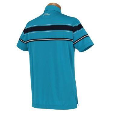 タイトリスト Titleist メンズ ボーダー柄 半袖 ボタンダウン ポロシャツ TSMC1909 2019年モデル 商品詳細2
