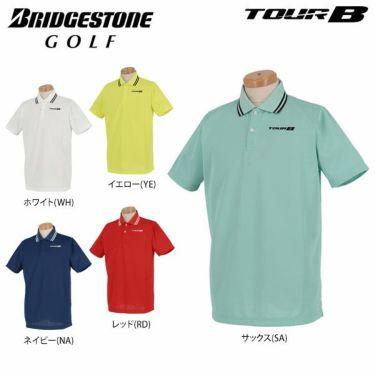 ブリヂストンゴルフ TOUR B メンズ ロゴ刺繍 メッシュ生地 半袖 ポロシャツ NGM01A 2019年モデル 詳細1