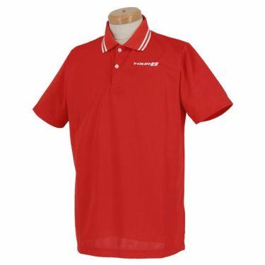 ブリヂストンゴルフ TOUR B メンズ ロゴ刺繍 メッシュ生地 半袖 ポロシャツ NGM01A 2019年モデル レッド(RD)