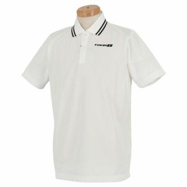 ブリヂストンゴルフ TOUR B メンズ ロゴ刺繍 メッシュ生地 半袖 ポロシャツ NGM01A 2019年モデル ホワイト(WH)
