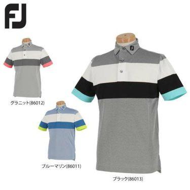 フットジョイ FootJoy メンズ 鹿の子 配色切替 半袖 ポロシャツ FJ-S19-S01 2019年モデル