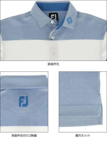 フットジョイ FootJoy メンズ 鹿の子 配色切替 半袖 ポロシャツ FJ-S19-S01 2019年モデル 商品詳細7