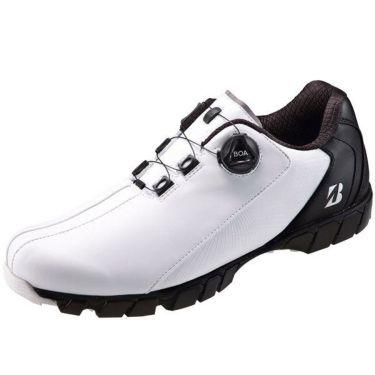ブリヂストン  ゼロ・スパイク バイター ワイド ボア メンズ スパイクレス ゴルフシューズ SHG080 WK ホワイト/ブラック 2020年モデル