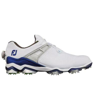フットジョイ ツアーX ボア メンズ ソフトスパイク ゴルフシューズ 55412 ホワイト+ネイビー
