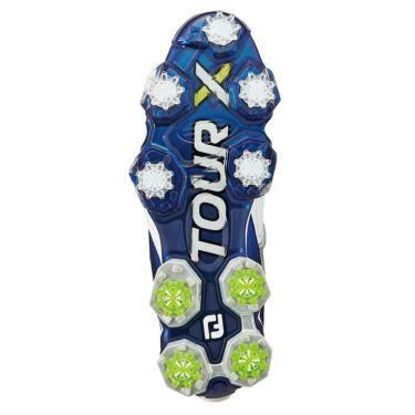 フットジョイ ツアーX ボア メンズ ソフトスパイク ゴルフシューズ 55412 ホワイト+ネイビー 商品詳細2