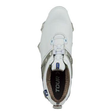 フットジョイ ツアーX ボア メンズ ソフトスパイク ゴルフシューズ 55412 ホワイト+ネイビー 商品詳細3