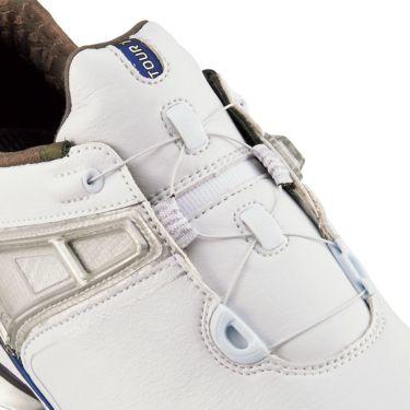 フットジョイ ツアーX ボア メンズ ソフトスパイク ゴルフシューズ 55412 ホワイト+ネイビー 商品詳細5