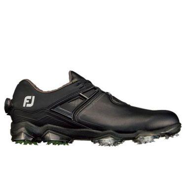 フットジョイ ツアーX ボア メンズ ソフトスパイク ゴルフシューズ 55414 ブラック+ライム
