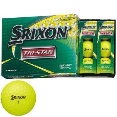 ダンロップ スリクソン TRI-STAR トライスター 2020年モデル ゴルフボール 1ダース(12球入り) プレミアムパッションイエロー