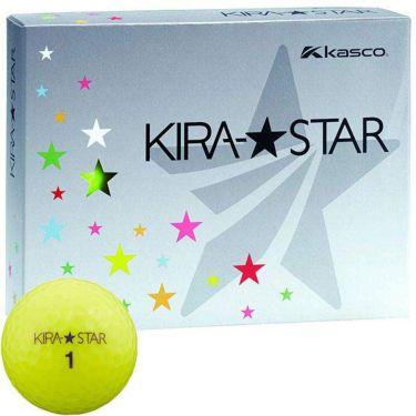 キャスコ KIRA STAR キラスター2 ゴルフボール 1ダース(12球入り) イエロー