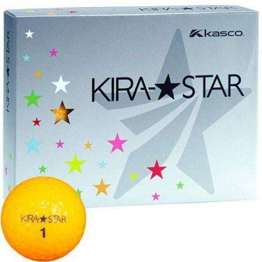 キャスコ KIRA STAR キラスター2 ゴルフボール 1ダース(12球入り) オレンジ