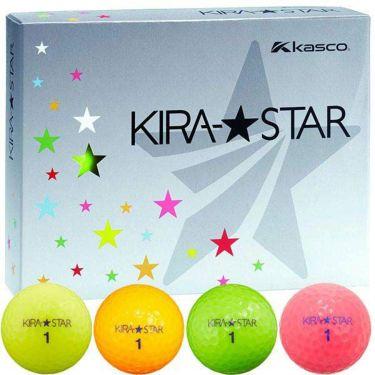 キャスコ KIRA STAR キラスター2 ゴルフボール 1ダース(12球入り) 4色入り