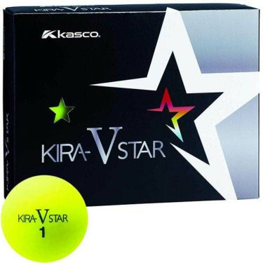 キャスコ KIRA STAR V キラスターV ゴルフボール 1ダース(12球入り) イエロー