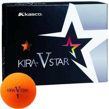 キャスコ KIRA STAR V キラスターV ゴルフボール 1ダース(12球入り) オレンジ
