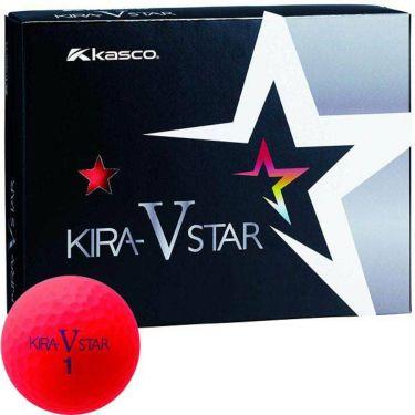 キャスコ KIRA STAR V キラスターV ゴルフボール 1ダース(12球入り) レッド