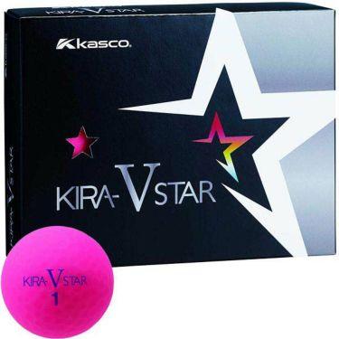 キャスコ KIRA STAR V キラスターV ゴルフボール 1ダース(12球入り) ピンク
