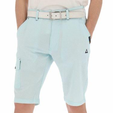 【ss特価】△ルコック Le coq sportif メンズ サッカー生地 ギンガムチェック ショートパンツ QGMNJD51 2019年モデル ブルー(BL00)