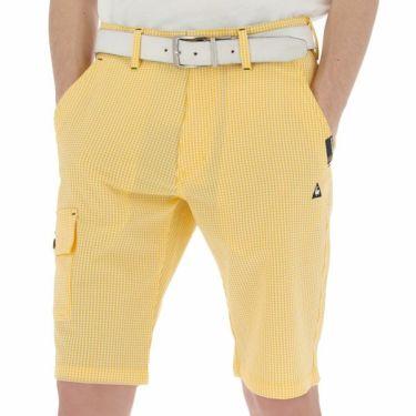 ルコック Le coq sportif メンズ サッカー生地 ギンガムチェック ショートパンツ QGMNJD51 2019年モデル イエロー(YL00)