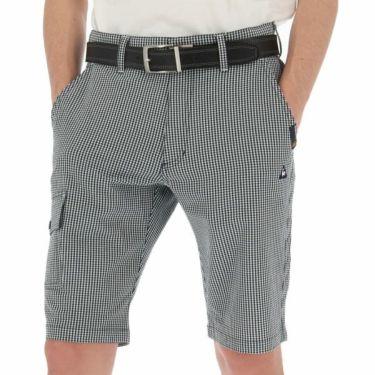 ルコック Le coq sportif メンズ サッカー生地 ギンガムチェック ショートパンツ QGMNJD51 2019年モデル ネイビー(NV00)