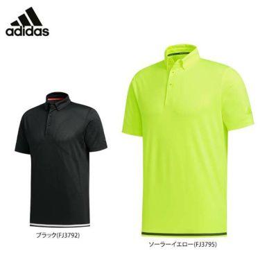 アディダス adidas メンズ メッシュ生地 ラインプリント 半袖 ボタンダウン ポロシャツ GKI46 2020年モデル 詳細1