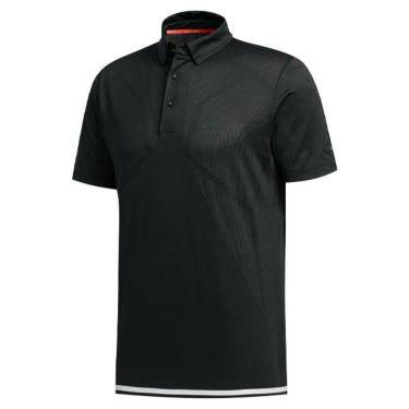 アディダス adidas メンズ メッシュ生地 ラインプリント 半袖 ボタンダウン ポロシャツ GKI46 2020年モデル ブラック(FJ3792)