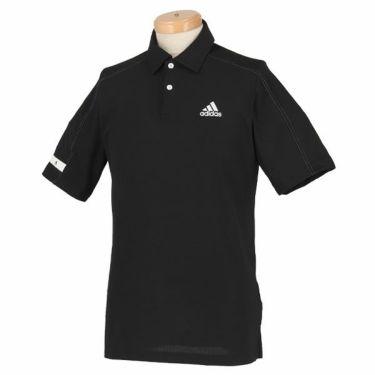 【ss特価】△アディダス adidas メンズ ロゴプリント メッシュ 生地切替 半袖 ポロシャツ GLB48 2020年モデル ブラック(FJ9913)