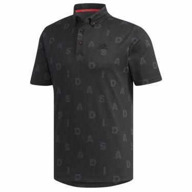 【ss特価】△アディダス adidas メンズ 総柄 モノグラムプリント 半袖 ボタンダウン ポロシャツ GLD29 2020年モデル ブラック(FN0883)