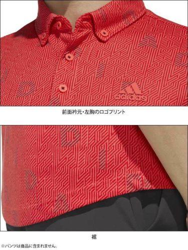 【ss特価】△アディダス adidas メンズ 総柄 モノグラムプリント 半袖 ボタンダウン ポロシャツ GLD29 2020年モデル 詳細4