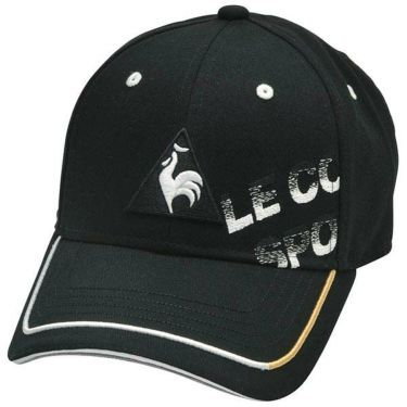 ルコック Le coq sportif メンズ シャドーロゴ刺繍 コットンツイル キャップ QGBPJC00 BK00 ブラック 2020年モデル