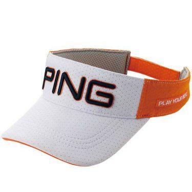 ピン PING メンズ SPLASH MESH VISOR スプラッシュメッシュバイザー HW-P204 35034-02 White/Orange 2020年モデル