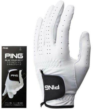ピン PING メンズ ソフト&フィット 天然皮革 左手用 ゴルフグローブ GL-P201 35074 White 2020年モデル