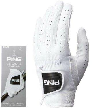 ピン PING メンズ ソフト&フィット 全天候型 左手用 ゴルフグローブ GL-P202 35075 White 2020年モデル
