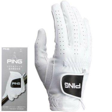 ピン PING メンズ ソフト&フィット 全天候型 右手用 ゴルフグローブ GL-P202 35075 White 2020年モデル