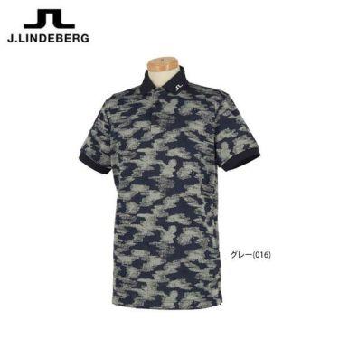 Jリンドバーグ J.LINDEBERG メンズ 総柄 ロゴ刺繍 半袖 ポロシャツ 071-22345 2020年モデル