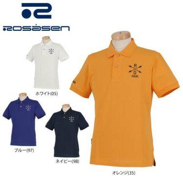 ロサーセン Rosasen メンズ ベアカノコ ロゴ刺繍 半袖 ポロシャツ 044-22241 2020年モデル