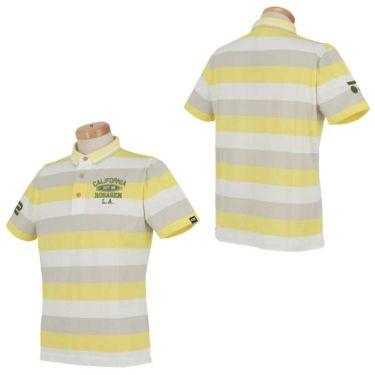 ロサーセン Rosasen メンズ タック編み ボーダー柄 ロゴ刺繍 半袖 ポロシャツ 044-22243 2020年モデル 商品詳細5