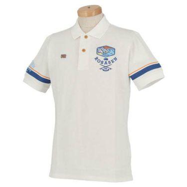 ロサーセン Rosasen メンズ ベアカノコ ロゴ刺繍 袖ライン 半袖 ポロシャツ 044-22244 2020年モデル 商品詳細2