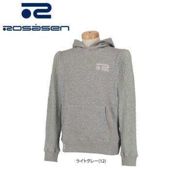 ロサーセン Rosasen メンズ ケーブル編み 生地切替 スウェット 長袖 プルオーバー パーカー 044-32211 2020年モデル