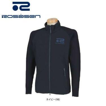 ロサーセン Rosasen メンズ ダブルジャガード 生地切替 長袖 フルジップ ブルゾン 044-52212 2020年モデル
